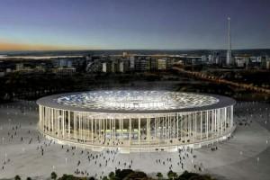 Visuale esterno dell'Estadio Nacional di Brasilia