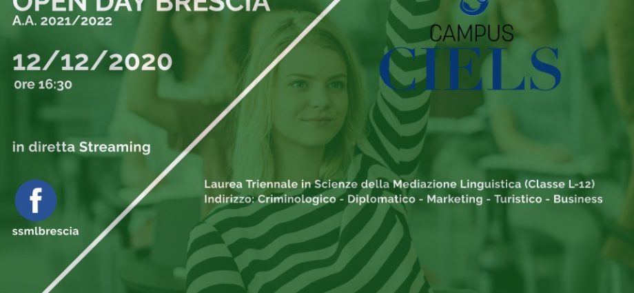 Open Day SSML Brescia 12 12 2020 streaming