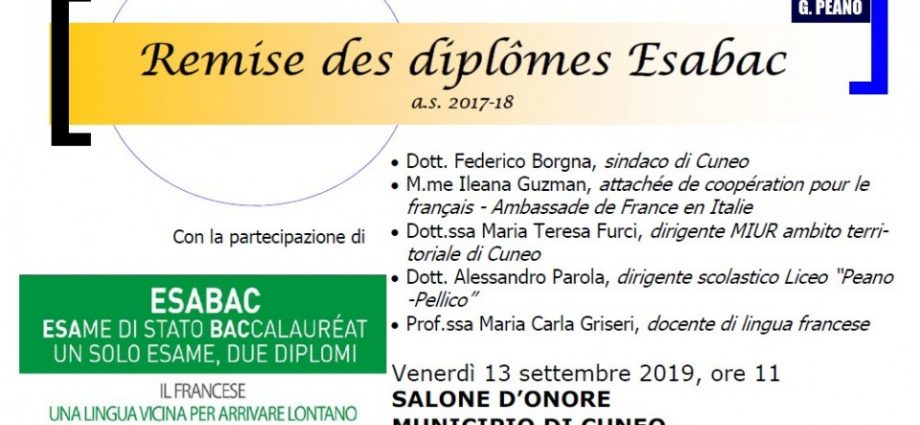 Remise diplomes Esabac