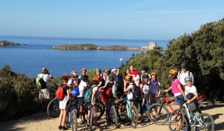 in mountain bike sull'isola di Porquerolles